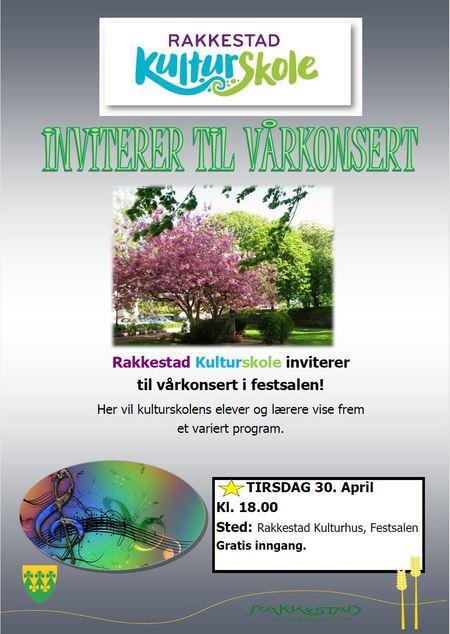 Plakat Vårkonsert 30. april 2019 Rakkestad kulturskole.jpg