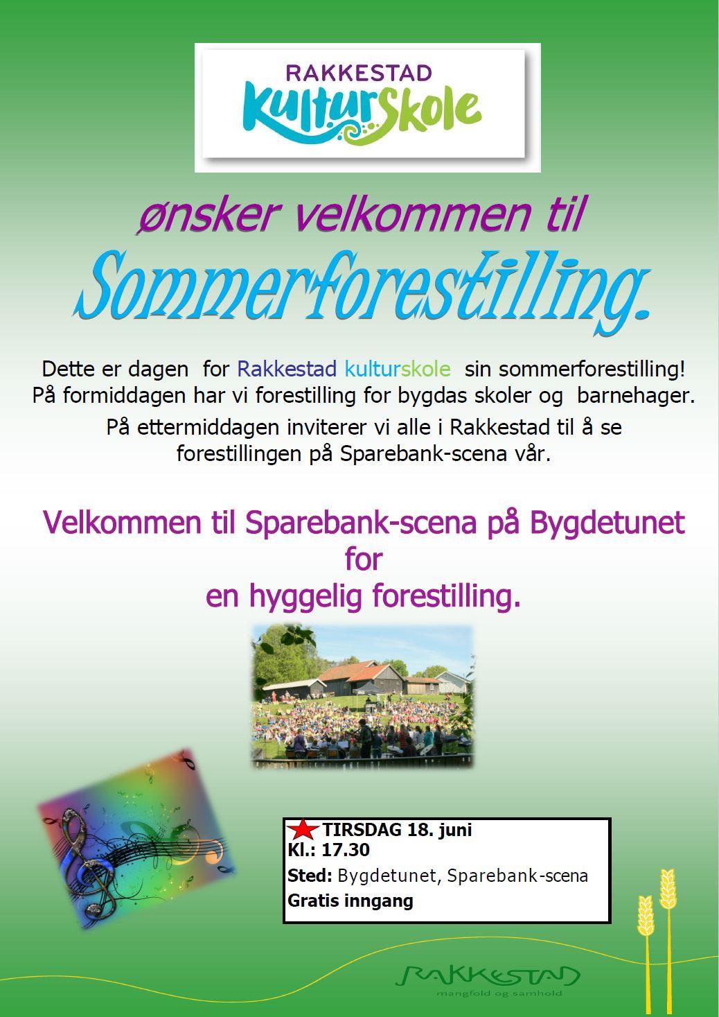 Plakat Sommerforestilling Rakkestad Kulturskole 18.juni 2019 - Bygdetunet.jgp