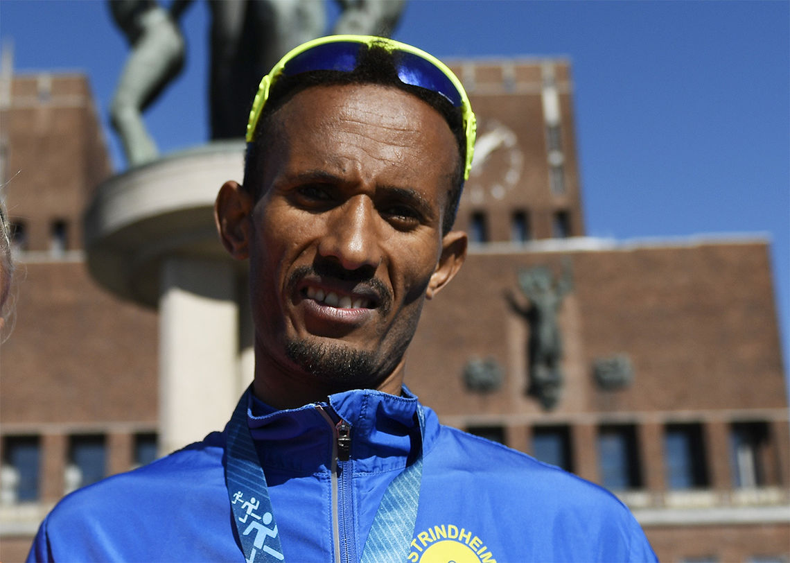 Ebrahim Abdulaziz fra Strindheim løp i våres Rotterdam Marathon på 2.18.49, en tid som er ny klasserekord i klasse M40-44 år og samtidig beste veteranresultat på maraton blant menn så langt i år ut fra Veterantabellene  (Foto: Bjørn Johannessen).