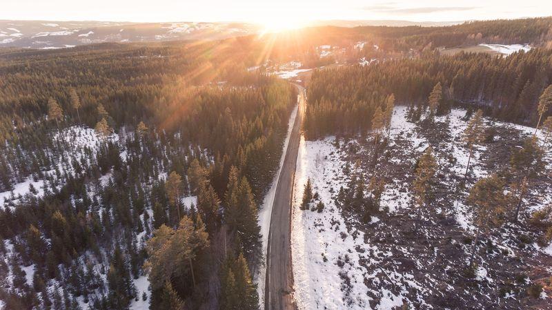 Bilde av en vei