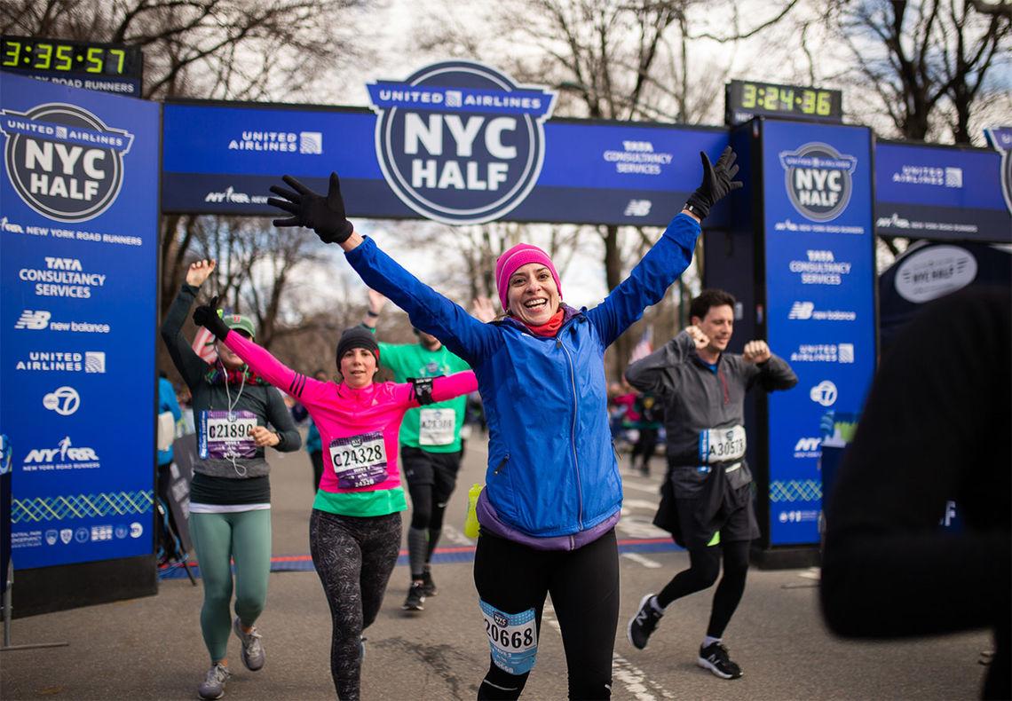 Kvinnene utgjorde et lite flertall i årets utgave av New York City Halvmaraton. (Foto: arrangøren)