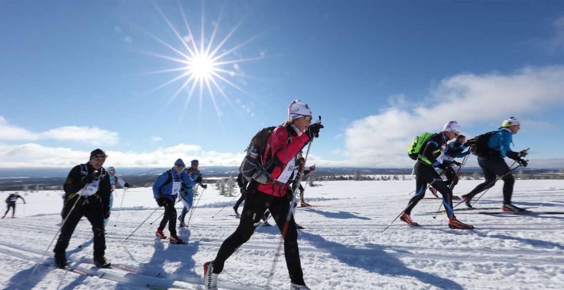 Det ble en fantastisk dag over fjellet for de 8442 som gjennomførte lørdagens Birkebeinerrenn. Foto: Geir Olsen/Birken