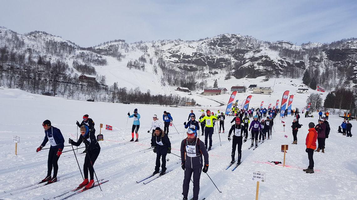 Starten har gått på årets Sirdal Skimaraton