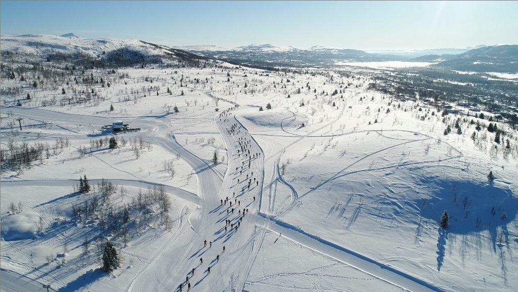 ValdresMarsjen går i mye flott åpent terreng. Bildet er fra fjorårets renn. (Arrangørfoto)