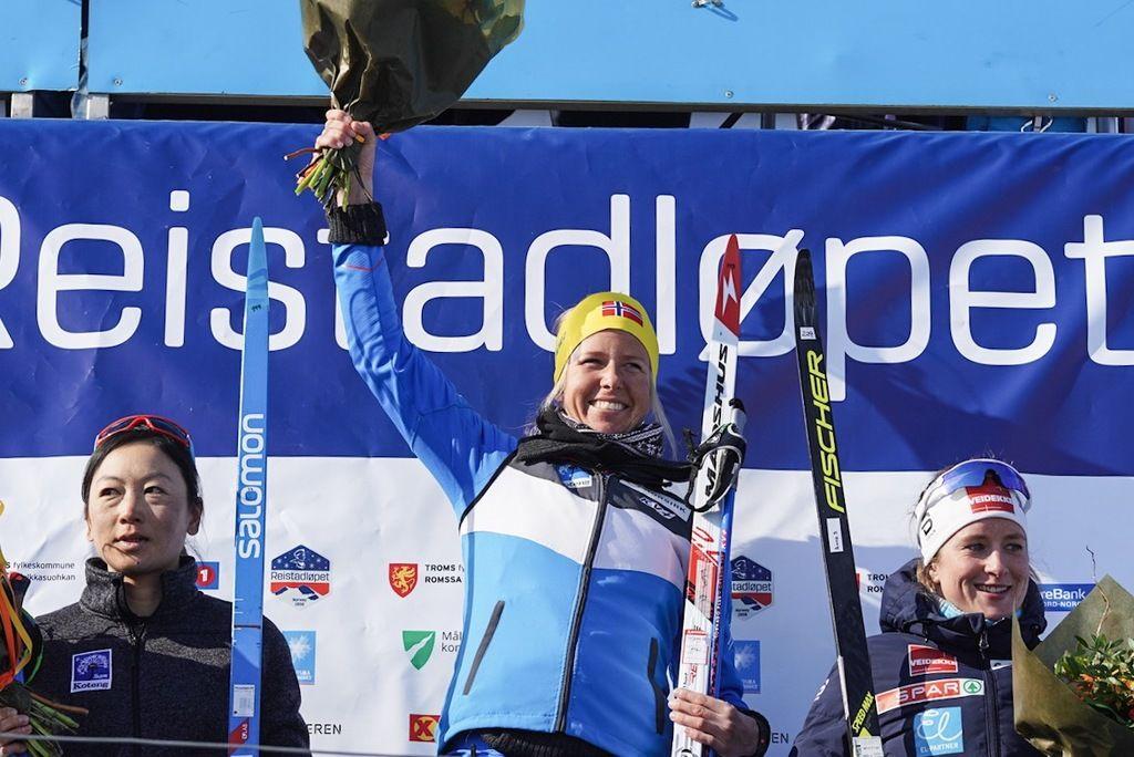 Fra venstre Masako Oshida, Astrid Øyre Slind og Anna Svendsen. Foto: Magnus Östh (Wsportsmedia).