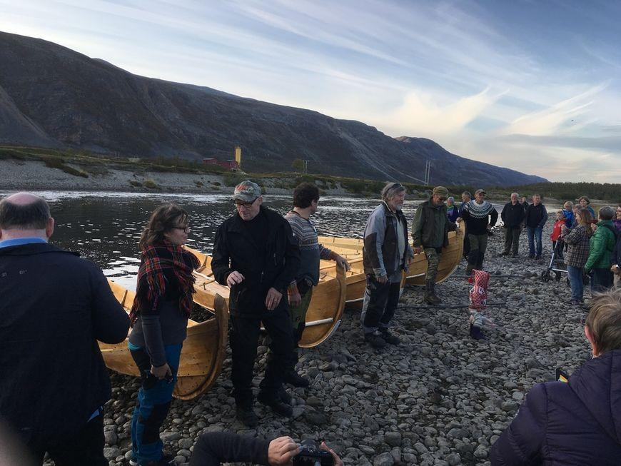 Elvesetting av båter, september 2018.