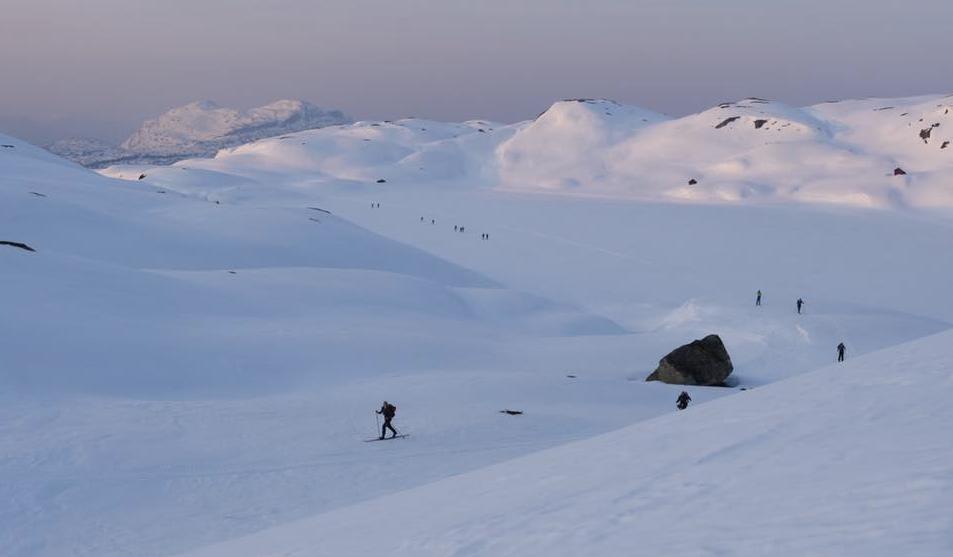 Hardinglaup mellom Øystese og Voss. Foto: Hardangerfjord Media.