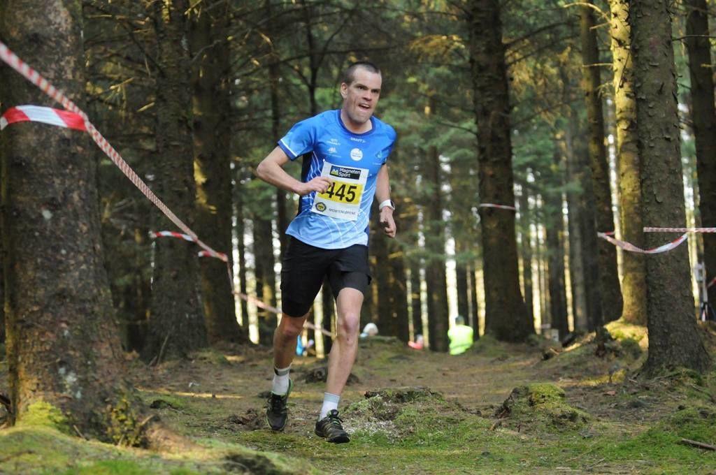 Andreas Penne Nygård vant 10 km i Gjesdal Trailrun. Her fra hans seier på samme distanse under Mortenløpene i fjor. (Arkivfoto: Henning Wiig)
