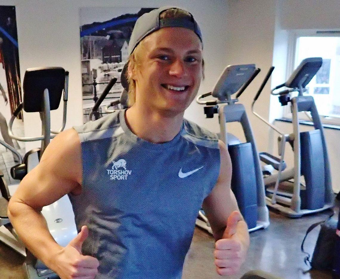 Målbevisst: Sondre Øvre Helland er en målbevisst mann som er opptatt av å gjøre alt riktig for å se hvor langt det kan bringe ham. Foto: Marianne Røhme