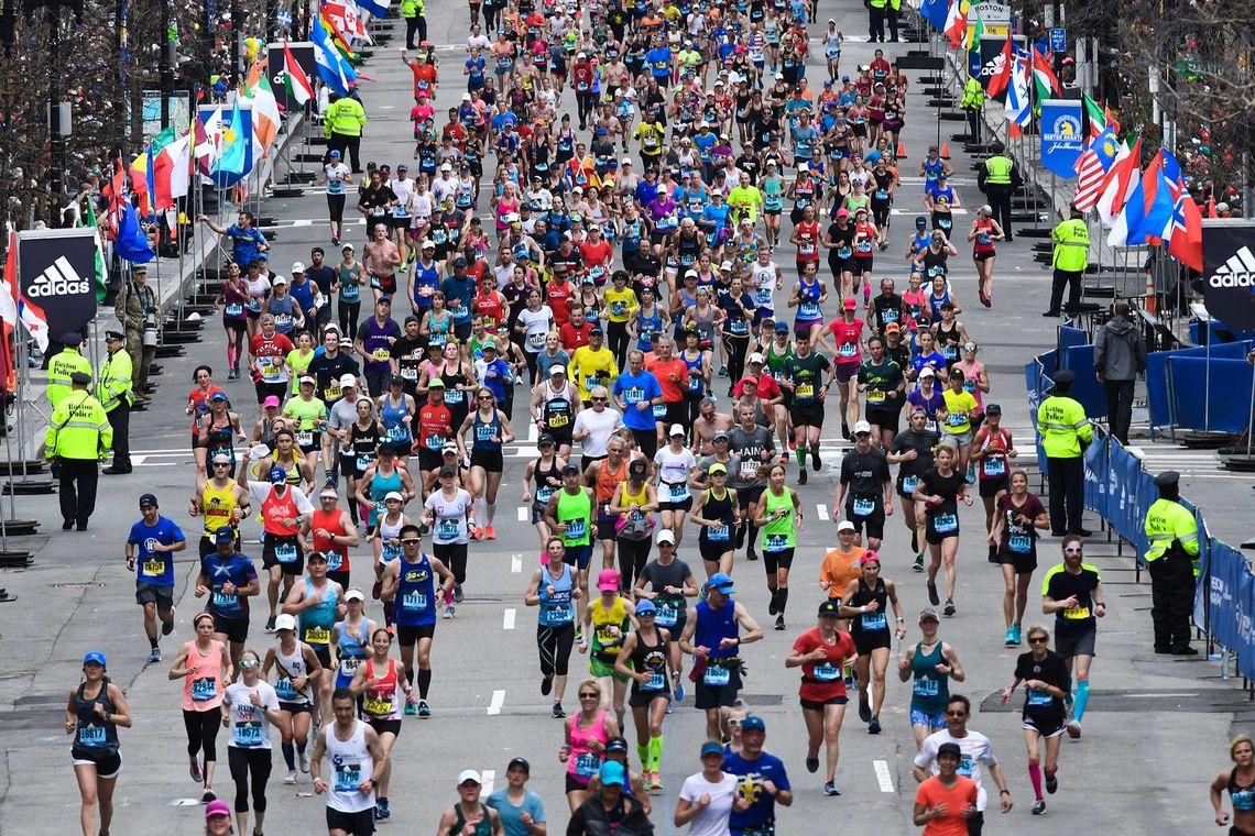 Boston Maraton, folkefest for 123. gang. (Foto: Arrangøren / Bruce Wodder)