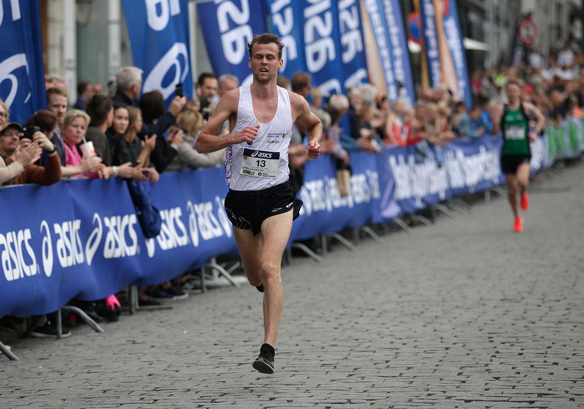 Erik Udø Pedersen var raskest i Sentrumsløpet, også etter aldersomregning. (Foto:Per Inge Østmoen)