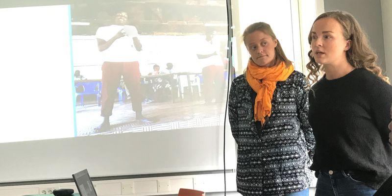 Bilde av Victoria Erdahl og Randi Sollid som har vært på utveksling i Taveta, Kenya