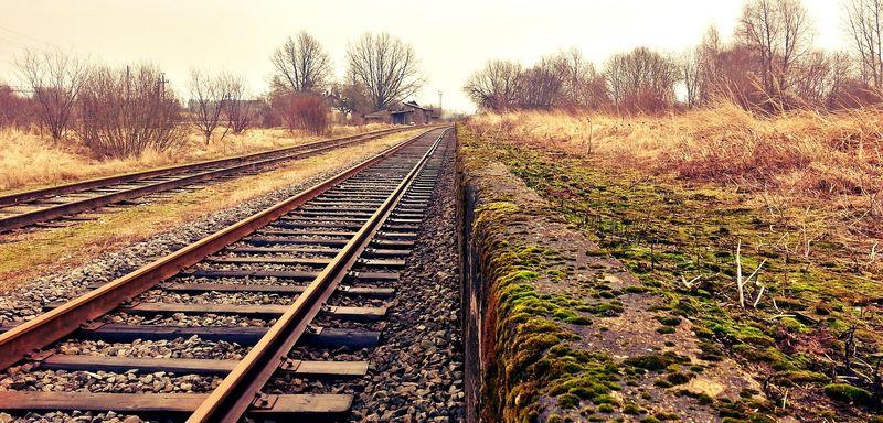 Illustrasjonsbilde av en jernbanelinje