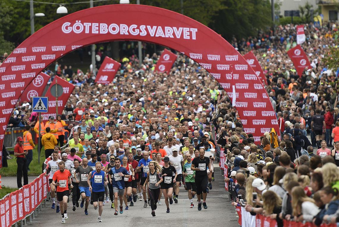 Over 38 000 løpere fullførte den 40. utgaven av Göteborgsvarvet. (Foto: Bjørn Johannessen)