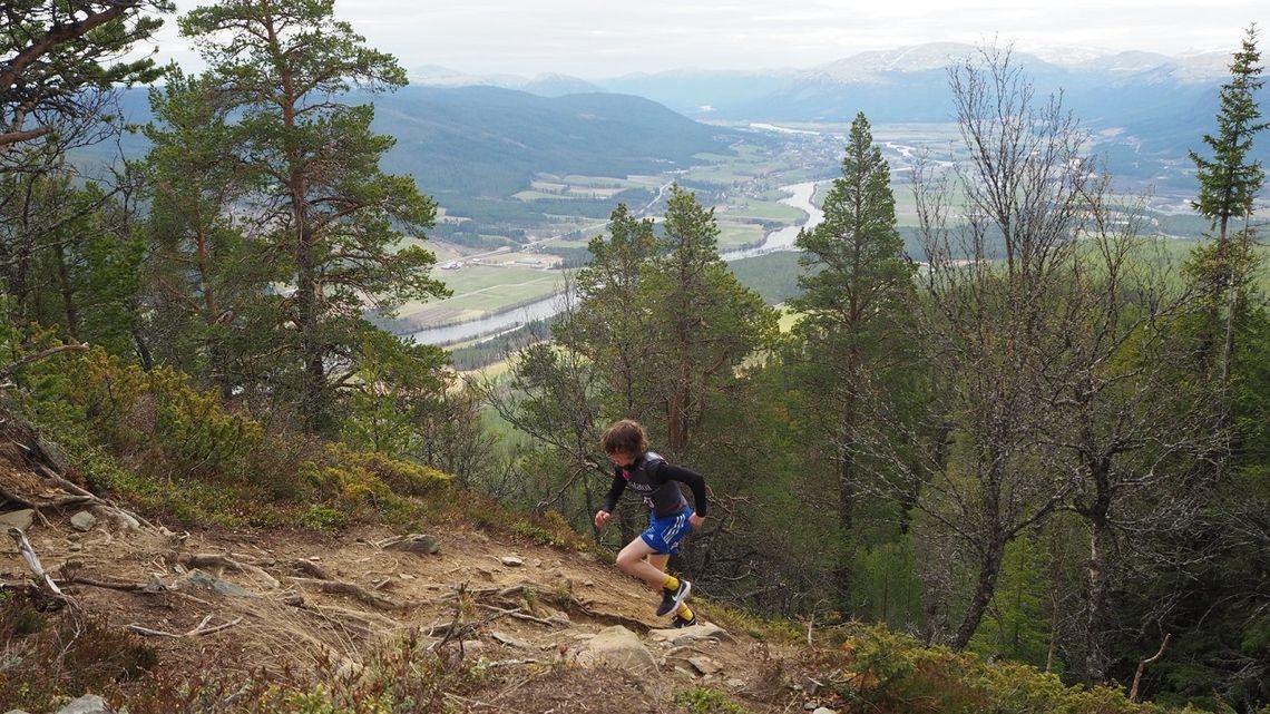 Esten Hansen-Møllerud Hauen på vei mot ny løyperekord. (Foto: Audun J. Lutnæs/Alvdalmiv)