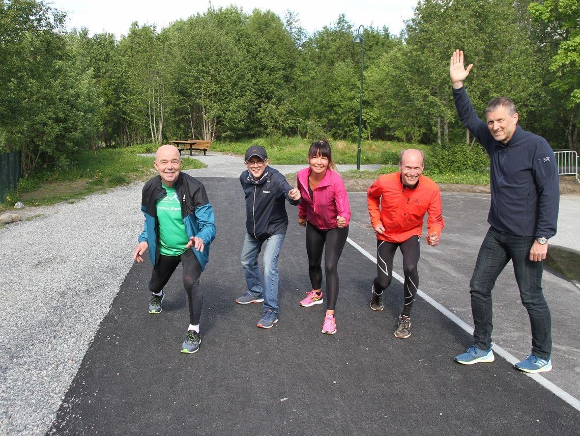 Initiativtagerne som ønsker masse folk på Kondistreninga Ålesund: Per Jan Helset, Helge Fuglseth, Angelique Helset, Jan Ketil Vinnes og Svein Arne Myhre(leder).