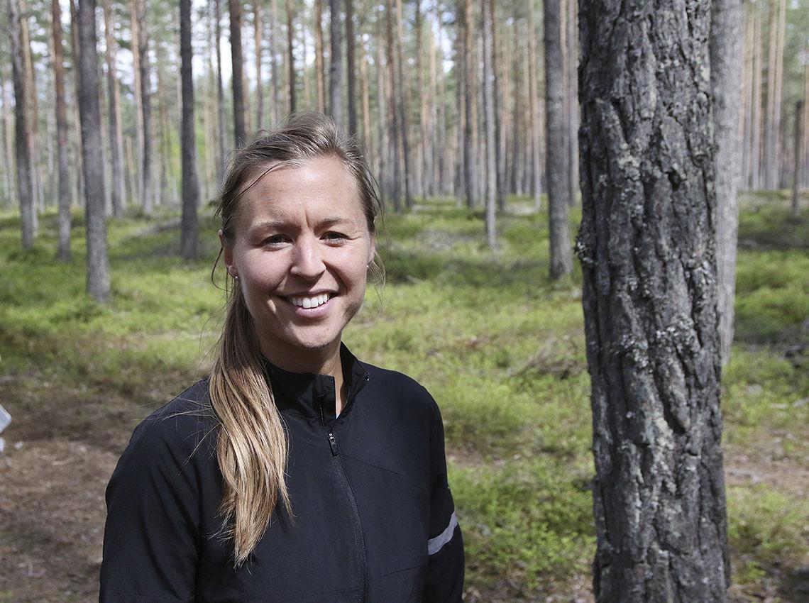 Marte Pedersen kunne smile fornøyd etter å ha forbedra sin egen løyperekord. (Foto: Runar Gilberg)