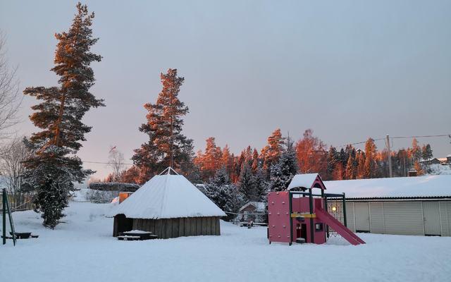 Uteområdet vinter