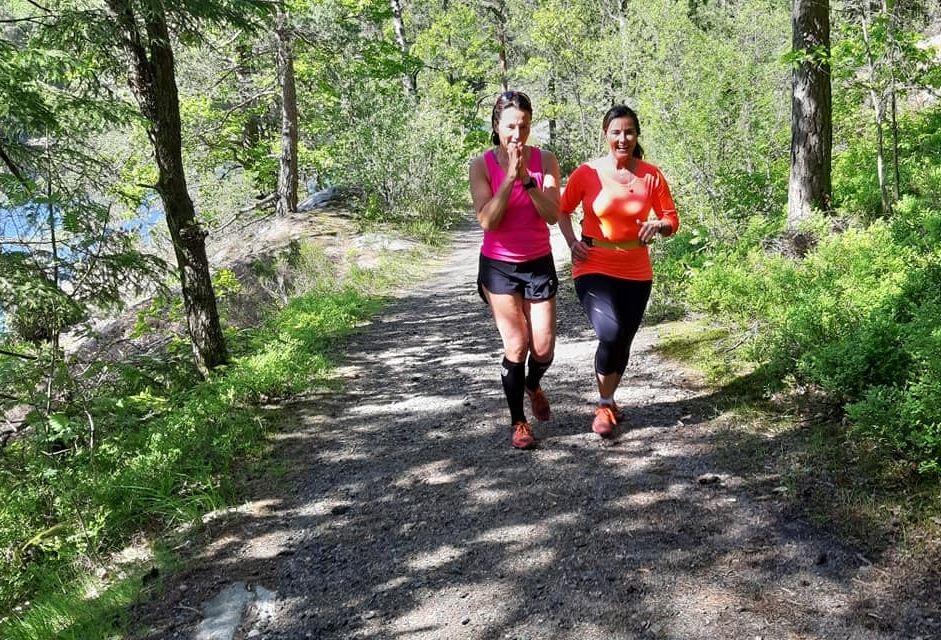 Løpsværet var fint og løperne trivdes i Hvitløypa. (Foto: Arild Vehus)
