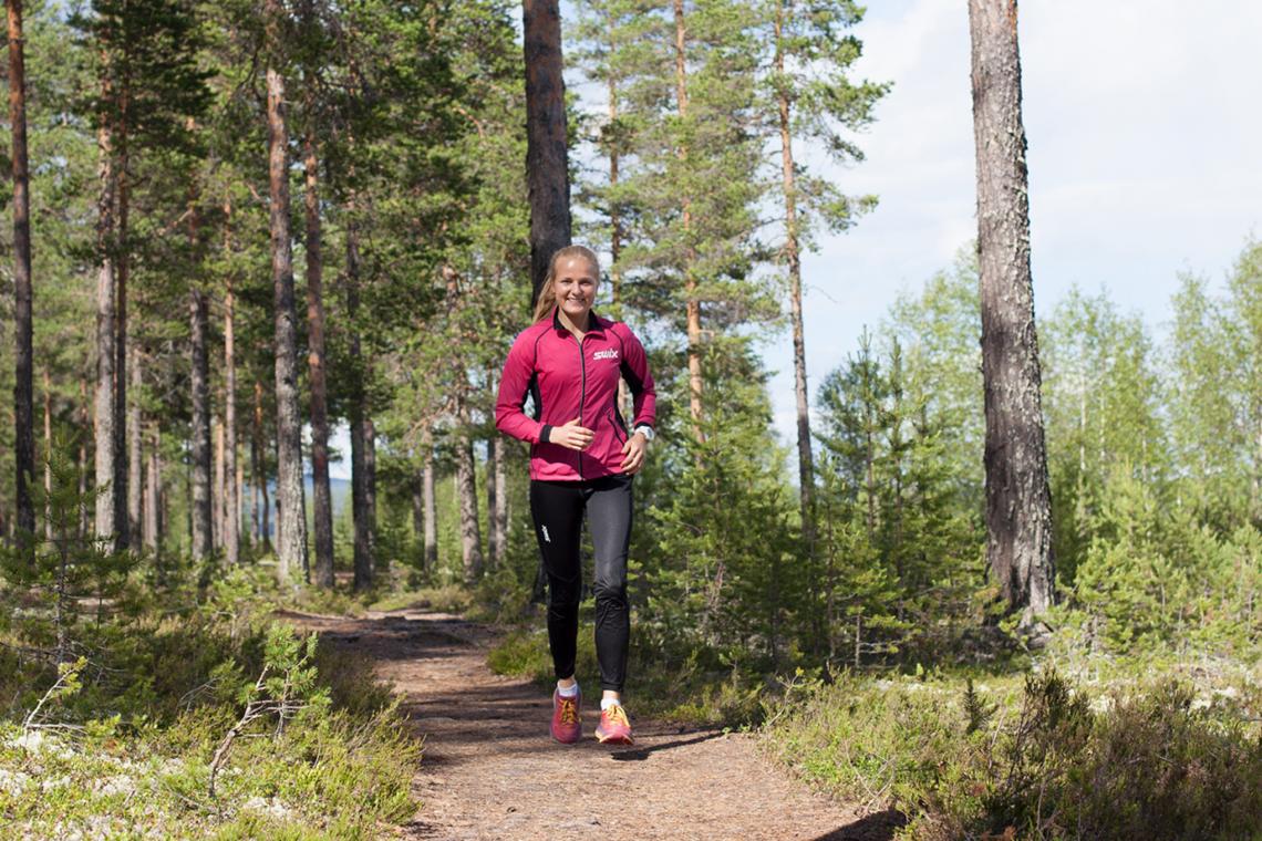 Franziska Skogsholm i sitt treningseldorado ved Rena Leir (Foto: Karoline Almås Sørensen)