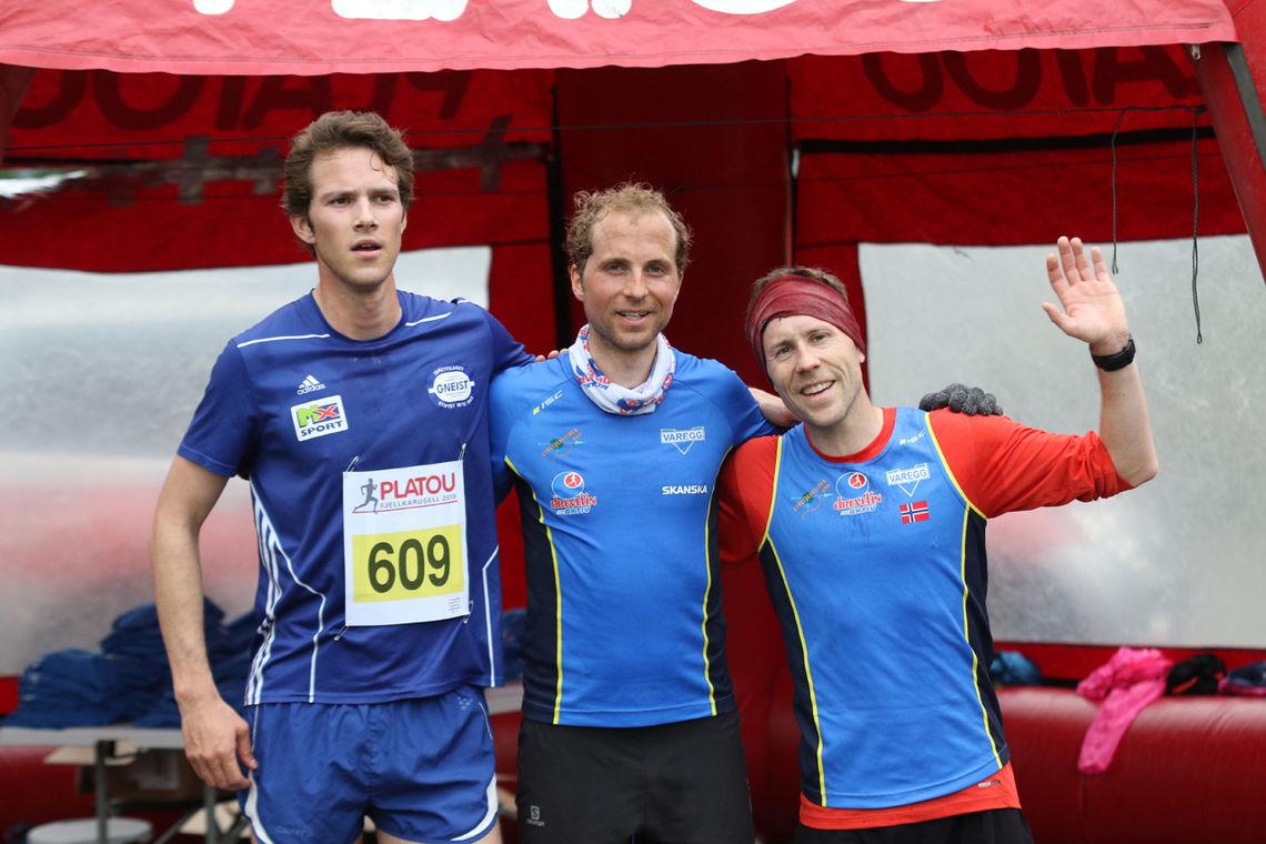 De tre raskeste herrer under sesongens 2. løp