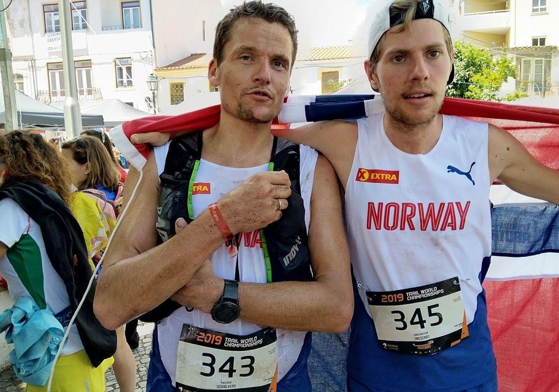 Våre to beste i herreklassen i VM, Hallvard Schjølberg og Hans Kristian Smedsrød. (Foto: Ella Marie Vangsnes)