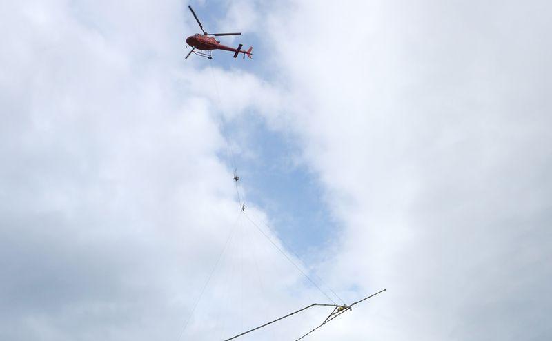 Bilde av et helikopter som geoskanner