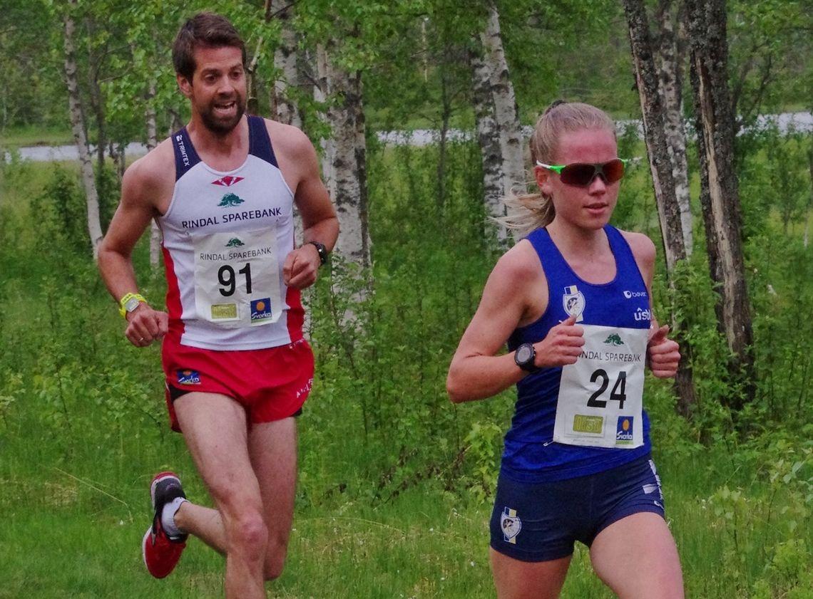 Hanne Mjøen Maridal i bra driv på vei mot å slette Runa Bostads 11 år gamle rekord. (Foto: Gunnar Bureid)