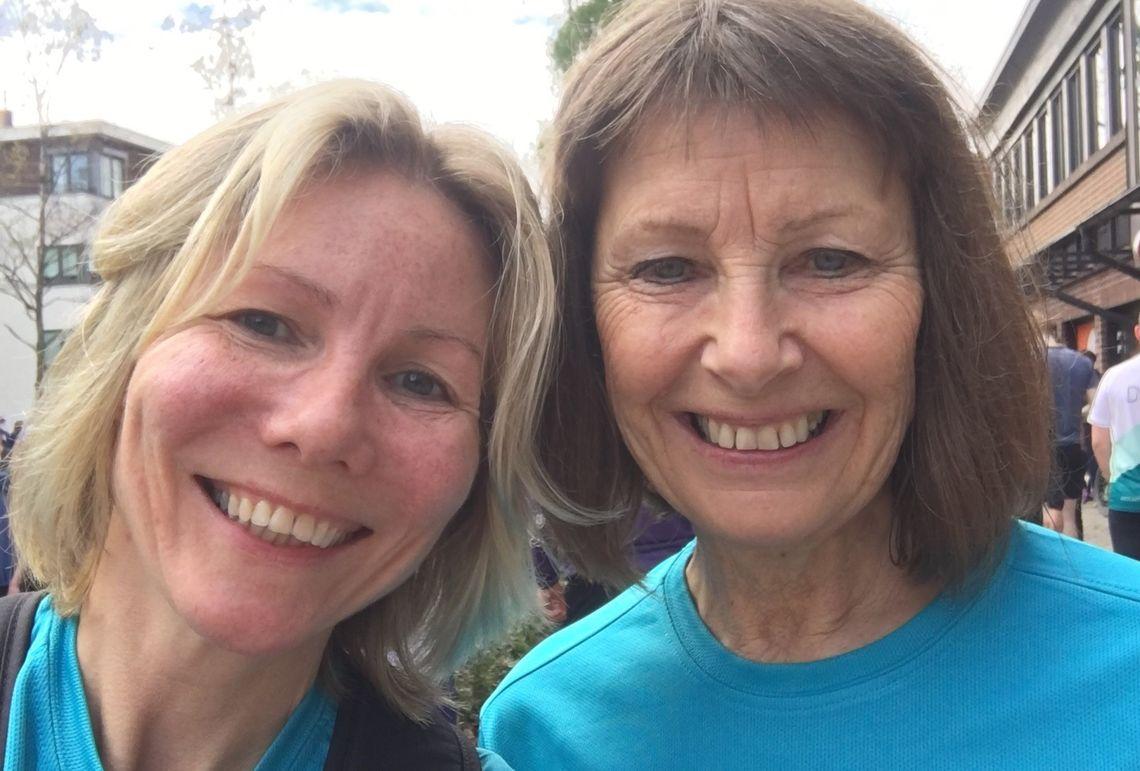 Anne Woldmo og Karin Mathilde Morstad inviterer til Afterrun i hagen for Kondismedlemmer