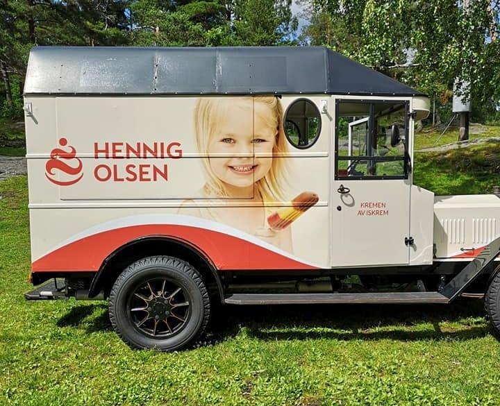 Isbilen var på plass når Hennig-Olsen løpet ble arrangert 13. juni. (Foto: Marianne Scheie Humborstad)