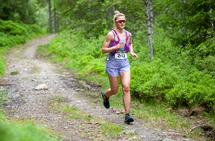 Martine Ek Hagen debuterte på ultraløp på imponerende vis i Romeriksåsen. (Foto: Audun Morgestad)