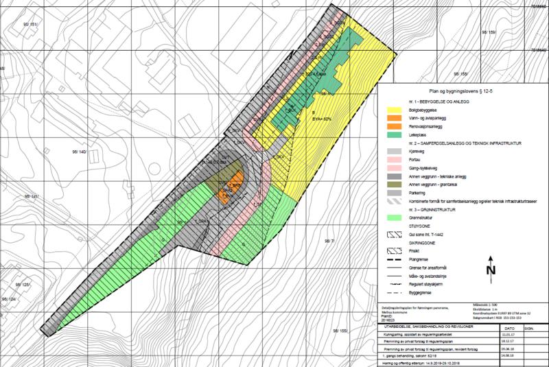 bilde av plankartet til reguleringsplanen