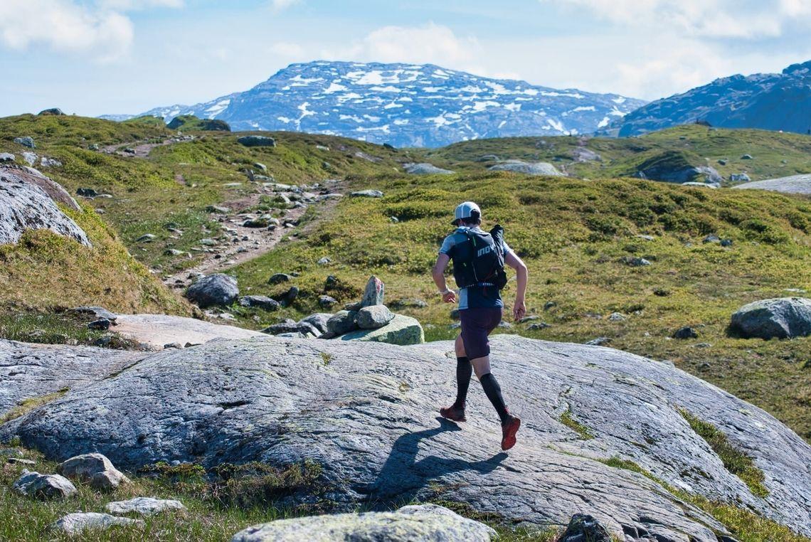 Øystein Røen fra Voss var raskest over fjellet mellom Voss og Bergen. (Foto: XREID/Mathieu Bocci)
