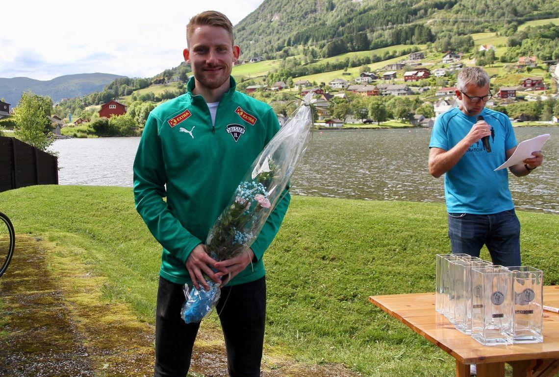 Eivind Øygard fra arrangørklubben Jølster IL vant 5 km på tiden 14.27