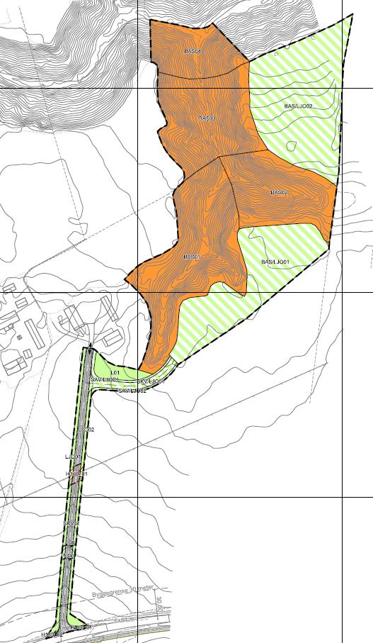 bildet viser plankartet til reguleringsplanen