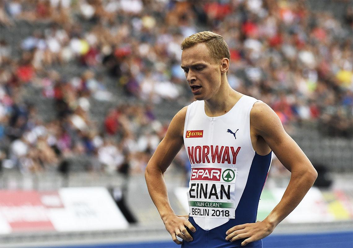 Markus Einan kan glede seg til 800 m-finalen etter å ha gått videre på tid. (Arkivfoto: Bjørn Johannessen)