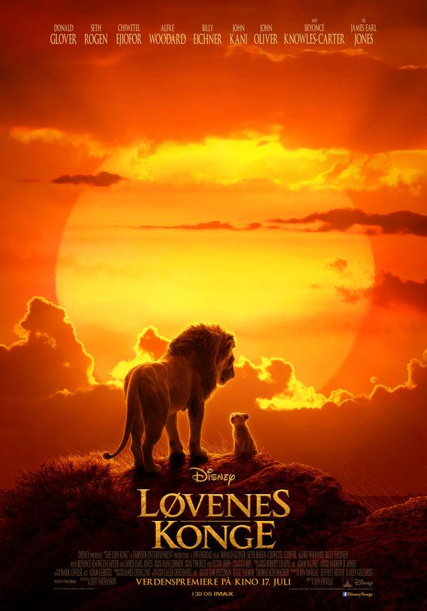 Plakat med filmen Løvenes konge