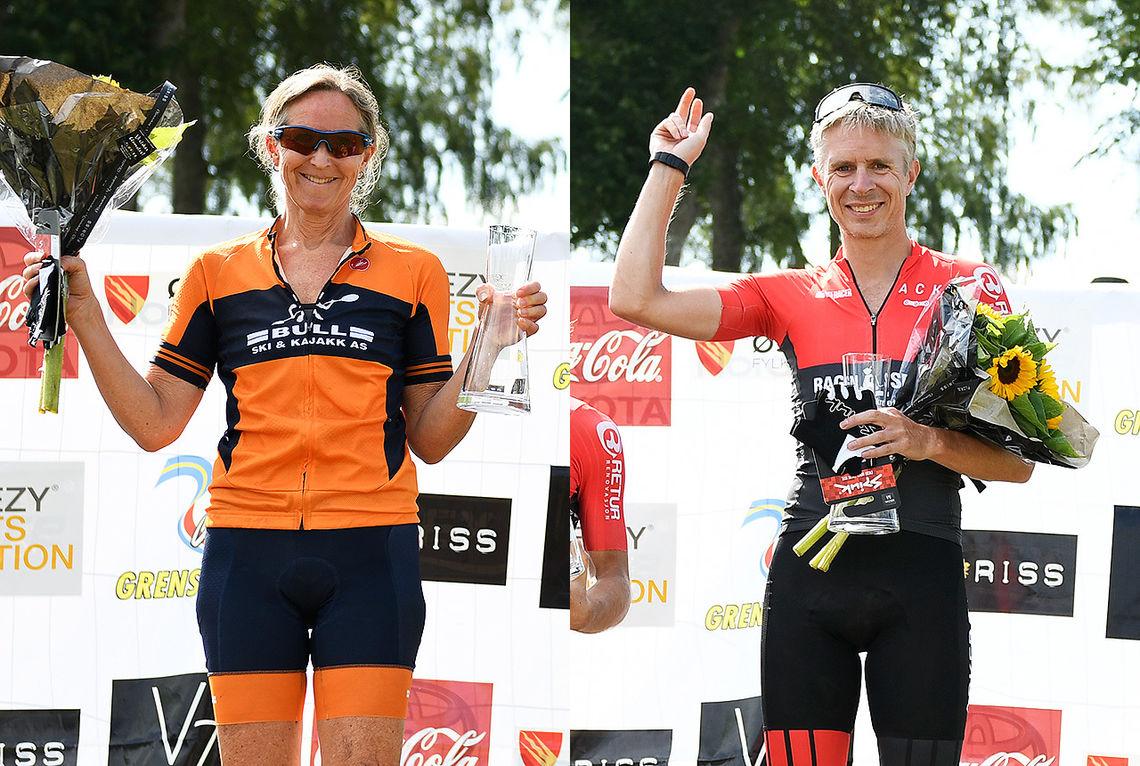 Janicke Paasche vant kvinneklassen, mens Truls Veslum vant herreklassen i Grenserittet MIDT. (Foto: Bjørn Johannessen)