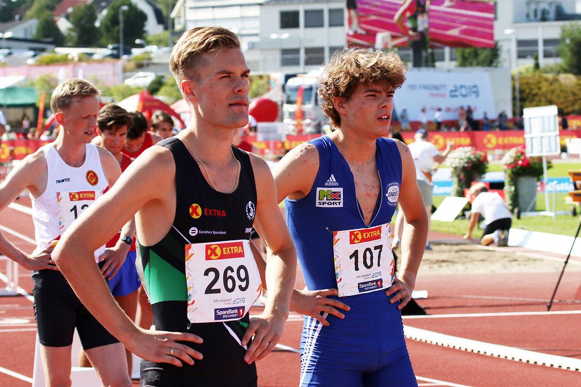 Filip Ingebrigtsen tok seg greit til finalen. Hans-Magnus Haukøy som startet i samme bane kom seg ikke videre.