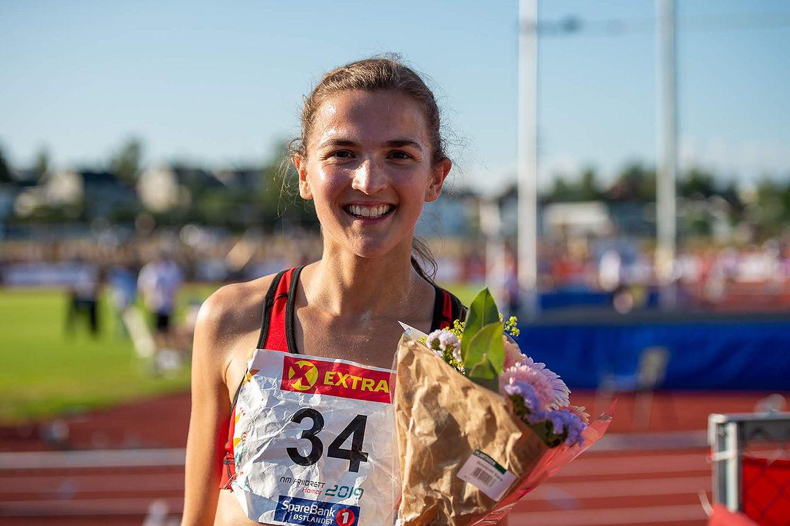 Sigrid Jervell Våg tok NM-tittelen på 1500 meter. (Foto: Samuel Hafsahl)