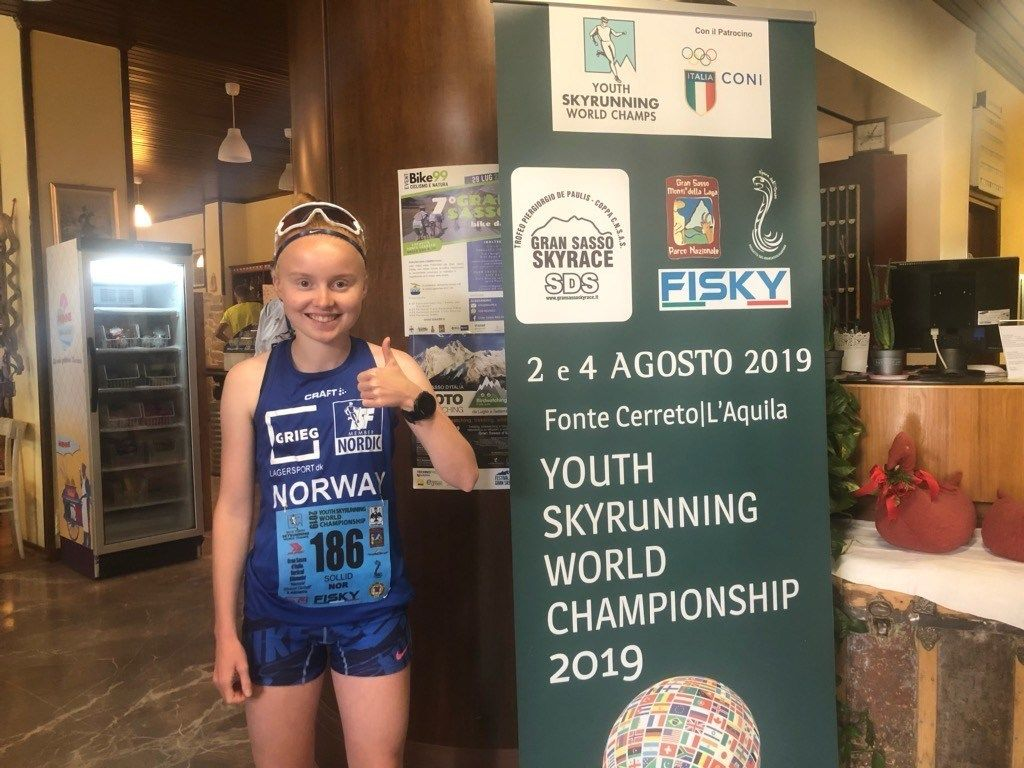 LIve Sollid ble dobbelt gullvinner i Ungdoms-VM Skyrace. (Foto: Magnus Sollid)