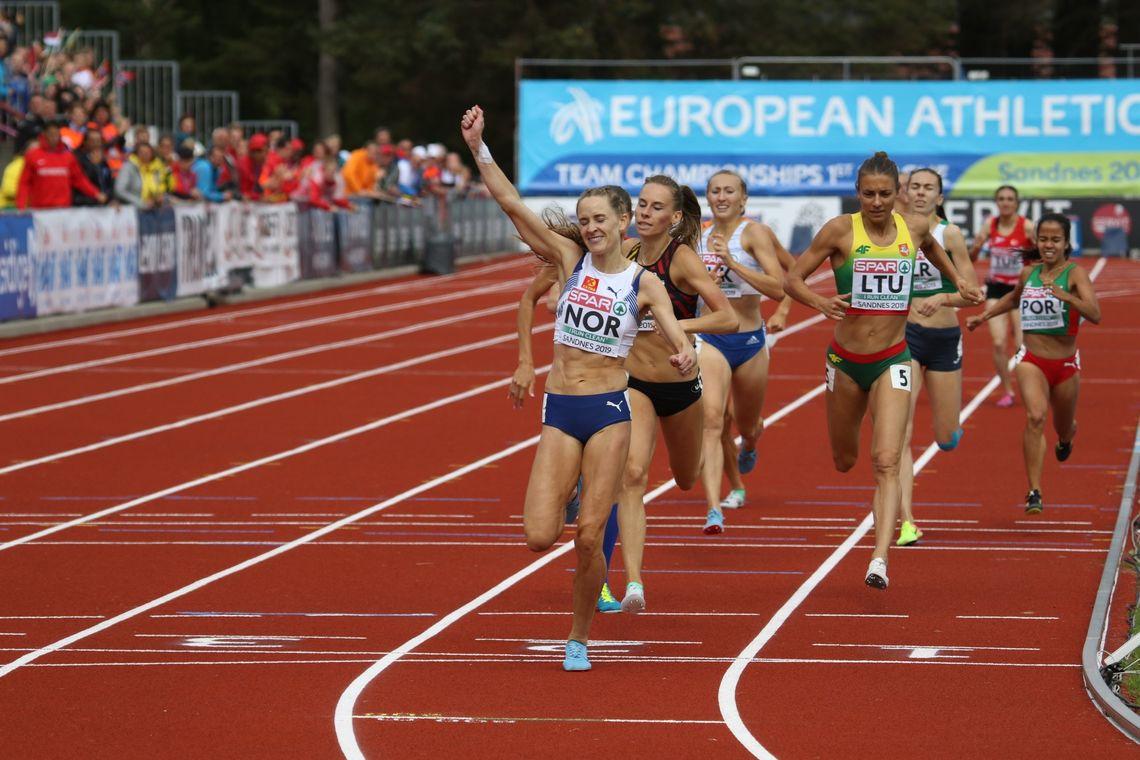 Nå vant Hedda Hynne med enda større margin enn det hun gjorde under lag-EM i Sandnes der dette bildet er tatt. (Foto: Arne Dag Myking)