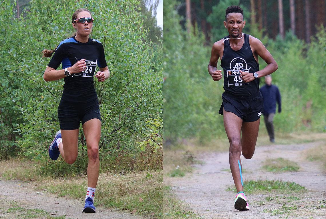 Karoline Næss vant kvinneklassen, mens Senay Fissehatsion vant herreklassen i Hytteplantesten 2019. (Foto: Hans Edgard Rakeie)
