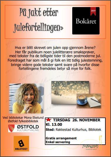 På jakt etter julefortellingen med bibliotekar Mona Ekelund , Rakkestad bibliotek 261119.jpg