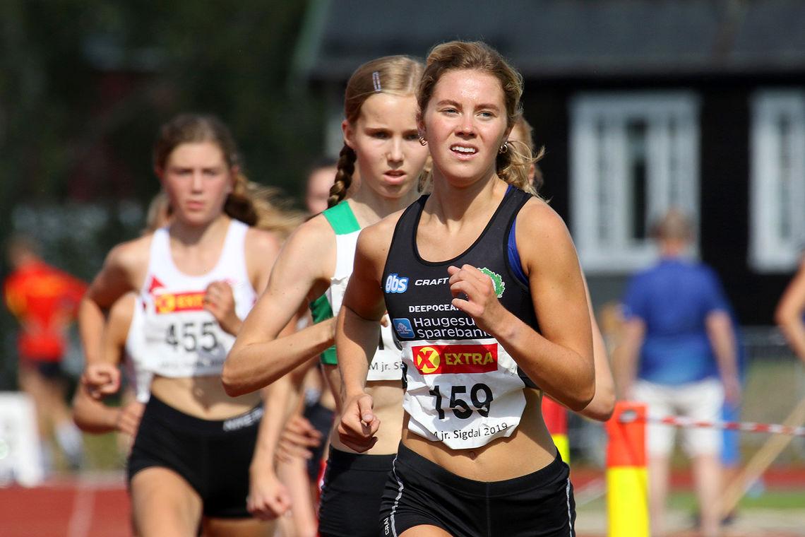 Kristine Lande Dommersnes vant Aibelsprinten. Bildet er fra Junior-NM i år der hun vant 3000 meter i U23. (Foto: Arne Dag Myking)