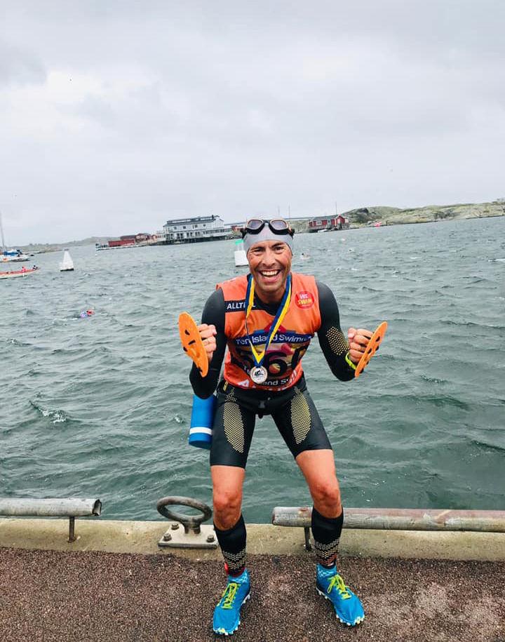 Svein-Erik Bakke kom på 2. plass totalt i Ten Island Swimrun. (Foto: privat)