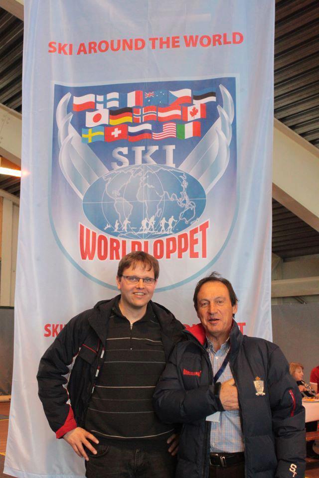 Lars Vagle og Worldloppet lederen  Corradini.jpg