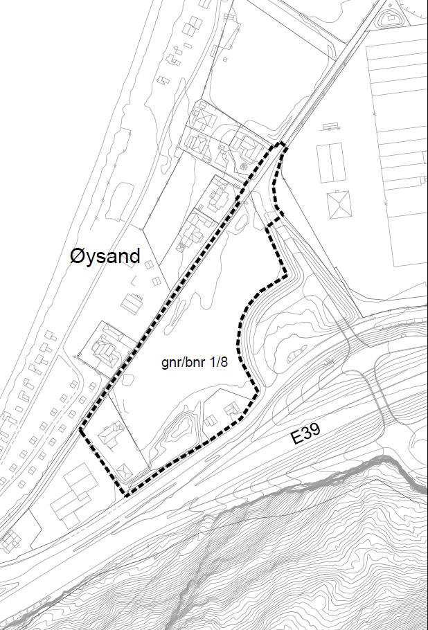 Planavgrensning Øysand Vest næringsområde