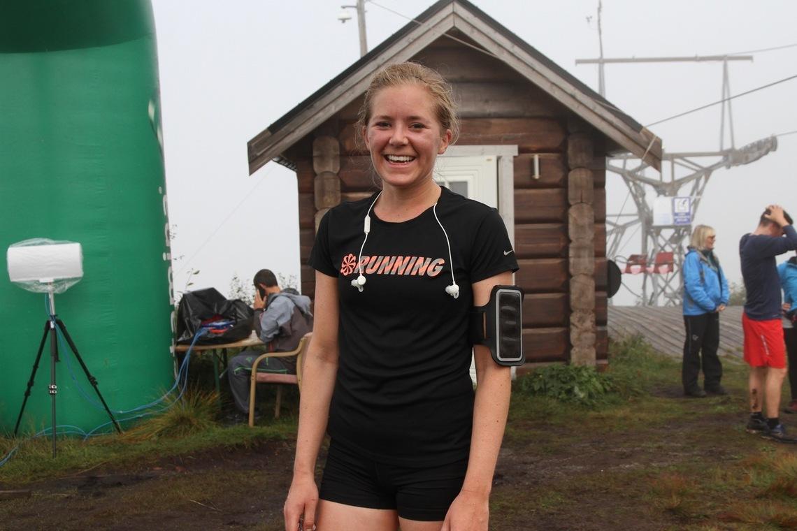 Janne Elin Vatnaland løper for Spirit Stavanger Friidrettsklubb, men bor i Ålesund og jobber der
