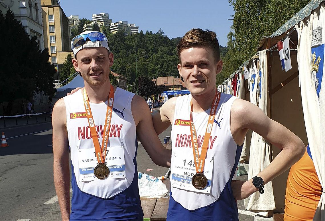 Simen Næss Berge og Magnus Winther Warvik gjorde begge en hederlig VM-debut på 50 km. (Foto: Kjell Berge)